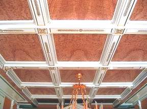 потолочные деревянные панели фото