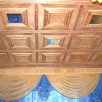 деревянные панели потолок фото