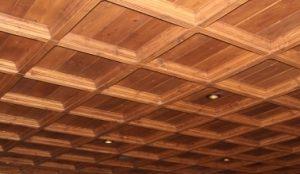 деревянные панели потолочные фото