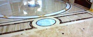 пол из литьевого мрамора фото
