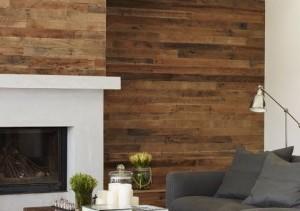 отделка стен в доме деревом фото