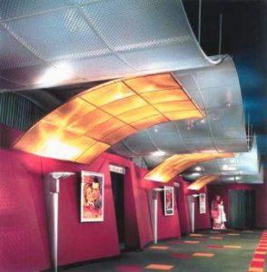 подвесной потолок на металлическом каркасе фото
