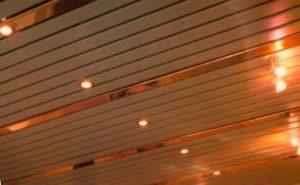 металлический потолок реечный