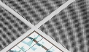 металлический потолок сетчатый фото
