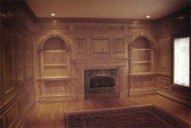 деревянные панели в интерьере фото