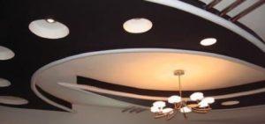гипсокартонный подвесной потолок фото