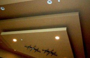 подвесной потолок из гипсокартона с подсветкой фото