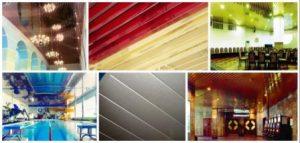 подвесные потолки реечные фото