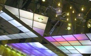 витражный стеклянный потолок фото
