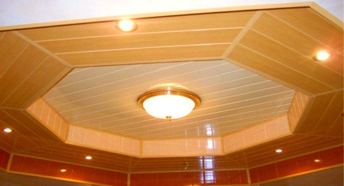 потолок из панелей пвх фото