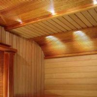 потолочная деревянная вагонка фото