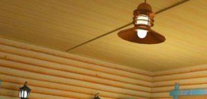блок хаус на потолок фото