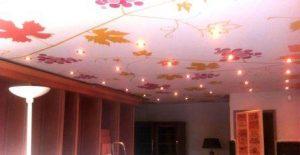бесшовный натяжной потолок фото