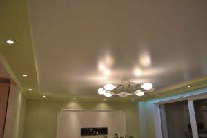 натяжной пвх потолок фото