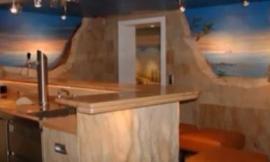 песчаный гибкий камень в кухне фото