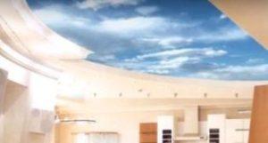 натяжной бесшовный потолок фото