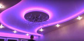 многоуровневый потолок с подсветкой