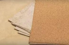 Пробковая подложка для стен под обои