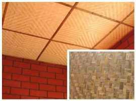 потолочные плиты из бамбука