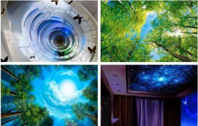 Фотообои 3Д на потолок