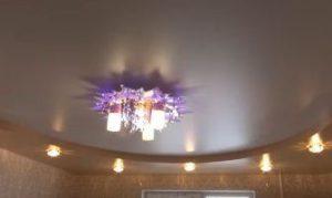 Двухъярусный натяжной потолок фото