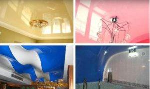 Глянцевые натяжные потолки ПВХ фото