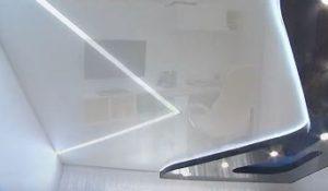Сочетание подвесного и натяжного потолка фото