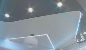Преимущества комбинированных натяжных потолков