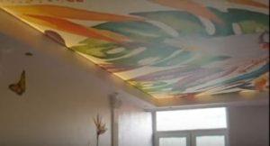 Матовый натяжной потолок в интерьере