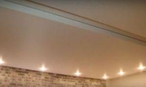 Потолки из сатинового винила фото