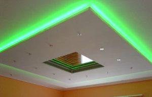 Натяжной потолок освещение варианты