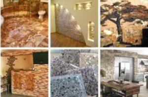 Виды искусственного камня для внутренней отделки