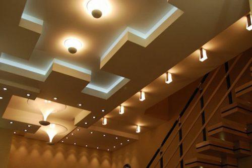 Трехуровневые потолки из гипсокартона