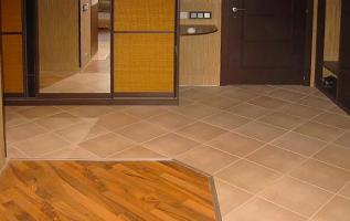напольная плитка в коридор фото