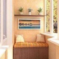 Внутренняя отделка и оформление интерьера балкона фото