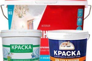 Акриловая водоэмульсионная краска для стен и потолка