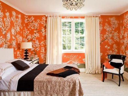 Оранжевые обои, фото