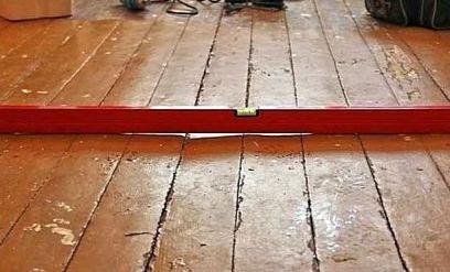 Выравнивание под ламинат деревянного пола