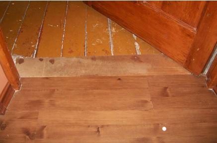 Ламинат на деревянный пол