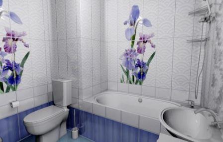 Интерьер ванной панелями ПВХ