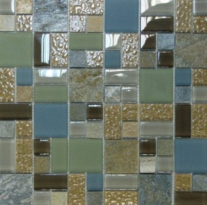 Пример исполнения плитки из элементов разного размера