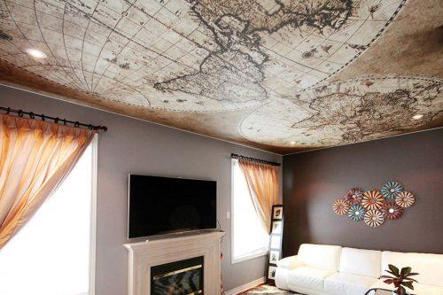 Бесшовные тканевые потолки