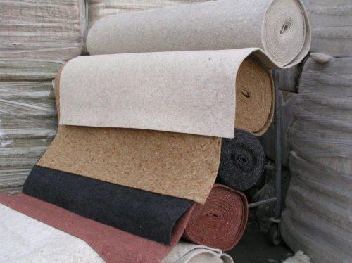 Льняные полотна для монтажа под напольные покрытия