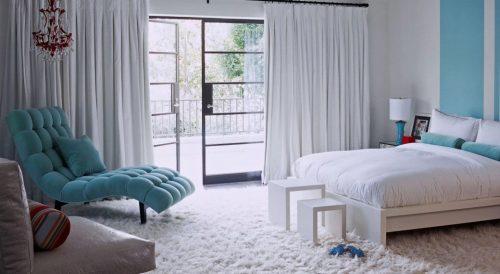 Ворсовый ковролин в спальне