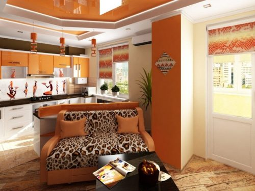 Дизайн совмещенной кухни и гостиной в квартире