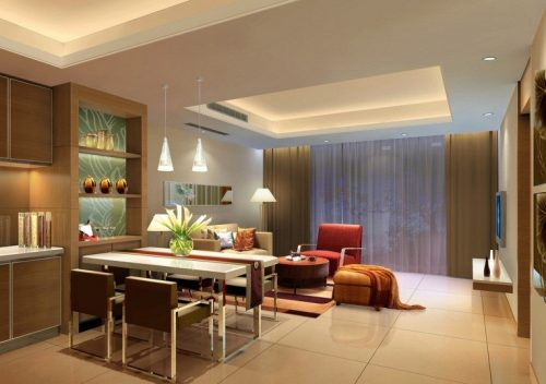 Для квартиры с высоким потолком подойдёт вариант с кессонами
