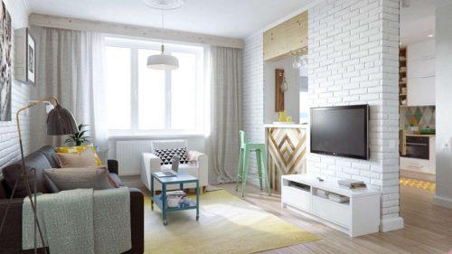 Гипсовая плитка под кирпич для оформления стен и зонирующих конструкций