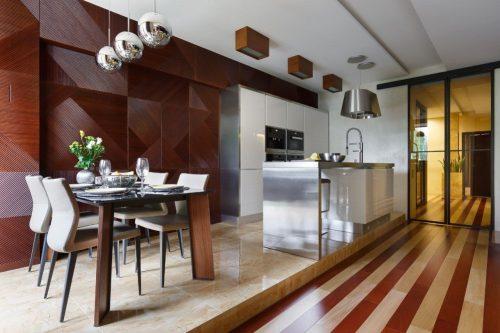 Кухонная зона на подиуме