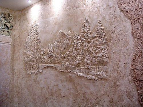 Штукатурка декоративная с рисунком