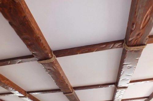 Балки из пенополистирола не отличить от деревянных